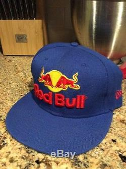 RED BULL ATHLETE ONLY HAT NEW ERA VERY RARE Blue Large Logo Cap