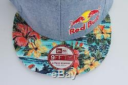 Red Bull New Era Floral Blue Front Side Small Logo New Era Snapback