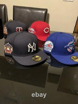 Rare All Star Game New Era Fitted Cap Collection 7 5/8 6 Hats Hat Club Exclusive