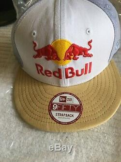 Rare red bull athlete hat New Era Blue Oxford Suede Strap Back