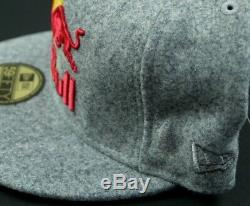 Red Bull Athlete Only Edition Hat Cap Fitted New Era Wool Deadstock 7 3/4