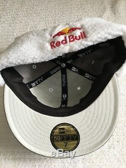 Red bull athlete Only hat New Era Doggie Ear Flaps Rare