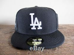 Roc Nation x Los Angeles Dodgers New Era 59FIFTY Fitted Cap sz 8 hat black white