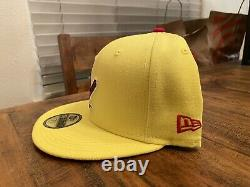 ST LOUIS CARDINALS 125th ANNIVERSARY YELLOW RED UV New Era Fitted Hat 7 3/4