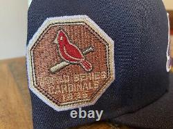 ST. LOUIS CARDINALS 1926 WORLD SERIES NEW ERA FITTED HAT 7 3/4 Navy Blue Red UV