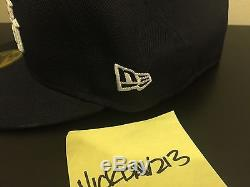 SUPREME Kanji Logo New Era Navy 7 3/8 New With Tags Deadstock