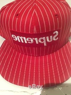 SUPREME x COMME DES GARÇONS SS14 RED NEW ERA FITTED HAT SIZE 7 1/2 cdg uptempo