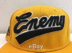 SUPREME x NEW ERA PUBLIC ENEMY Gold FITTED HAT 7 1/2 RARE FREE SHIPPING