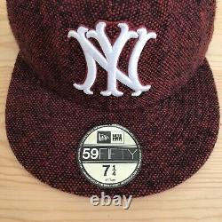 SUPREME x NEW ERA SPECKLED NEW YORK YANKEES FITTED HAT BOX LOGO 7 1/4 F/W 2008