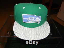 Seattle Seahawks Marshawn Lynch Beastmode Limited Edition New Era Hats Set of 2