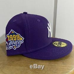 Sneaker Room New Era 5950 NY Yankees 1999 World Series Side Patch Purple Grey UV