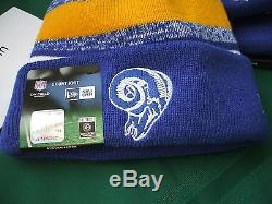 St. Louis / L. A. Rams New Era knit pom hat beanie nwt RARE NFL OnField Throwback