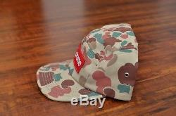 Supreme 2009 Tan Duck Camo Camp Cap Box Logo Hat New Era Safari Zodiac Leopard