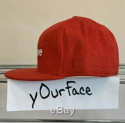 Supreme Box Logo Ultra Suede New Era 59 Fifty 7 1/2 Fitted Red Rare