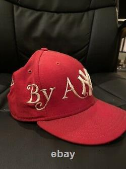Supreme By Any Means Red New Era Fitted Cap Hat 7 3/8 Rare