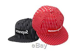 Supreme COMME des GARCONS CDG NewEra 59FIFTY hat 7 1/4 RED NEW DS