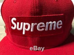 Supreme Gore-Tex Box Logo New Era Fitted Hat Men's 7 ½ Red Gently Worn