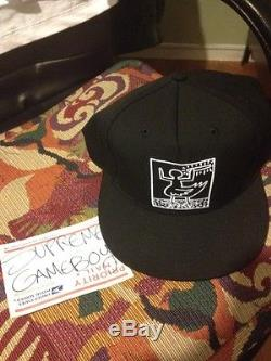 Supreme Malcolm Mclaren SS09 New Era Hat Black Duck Rock DS WOT Keith Haring NYC