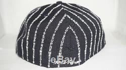 Supreme New Era 59 Fifty Fitted 7 3/4 Navy Text Stripe Box Logo Hat SS19