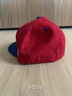 Supreme New Era Classic Gonz Logo 7 3/8 Cap Hat red logo DS New in hand FW02