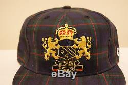 Supreme New Era Crest Fitted Hat 7 3/8 Rare Free Shipping Ny