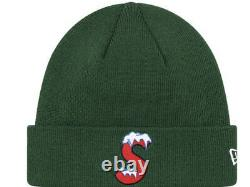 Supreme/ New Era S Logo Beanie Green Os Fw20 Week 3 (in Hand) Authentic, New
