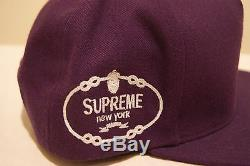 Supreme Prada Purple Snapback Hat Rare Free Shipping Ny 100% Authentic