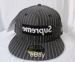 Supreme X COMME des GARCONS Shirt PROTOTYPE NewEra 59FIFTY hat 7 5/8 VNDS