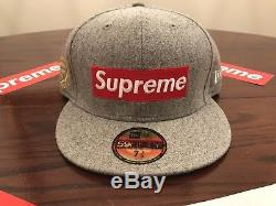 Supreme X New Era National Champions Box Logo SS 12 Fitted hat 7 3/8
