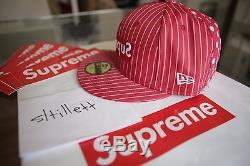 Supreme x CDG Comme des Garcons SHIRT New Era 59Fifty Fitted Hat 7 ¼