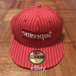 Supreme x Come Des Garçons SS14 Red New Era Fitted Hat 7 1/2