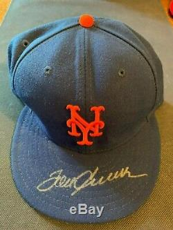 TOM SEAVER AUTOGRAPHED METS CAP RARE SIGNED NEW ERA FITTED Size 7 5/8 TERRIFIC
