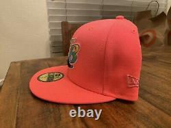 Tamp Bay Devil Rays Inaugural Season Vice Pink New Era Fitted hat 7 3/4 Gray UV