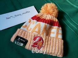 Tampa Bay Buccaneers New Era knit pom hat beanie Tags OnField AUTHENTIC! 2017 TB