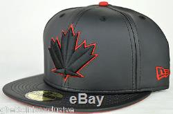 Toronto Bluejays Spring Training Black & Red Leather New Era 5950 Fitted Cap