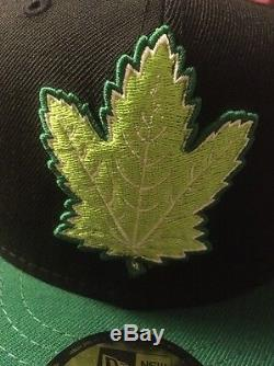 Toronto Maple Leafs New Era Fitted Cap 7 5/8 Brand New 420 green chronic NHL