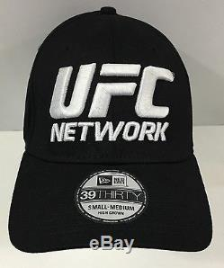 UFC NETWORK LIMITED 3930 BLACK SMALL NEW ERA FITTED Baseball Cap Hat Rare! $449