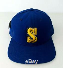 Vintage 80s New Era White Tag Seattle Mariners Wool Snap-back Hat NWT OLD STYLE