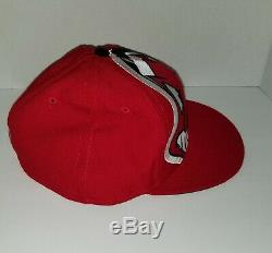 Vintage Cleveland INDIANS CHIEF WAHOO BIG LOGO HAT New Era fitted 7 1/2