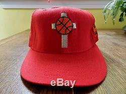 Vtg He Got Game Hat 90s movie Jesus Spike Lee 40 Acres 7 3/8 rap tee hip hop red