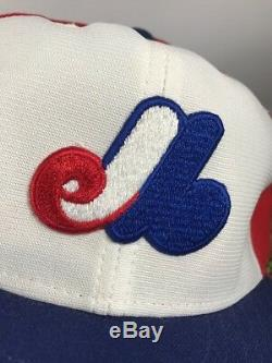 Vtg Montreal Expos New Era Pro Model Leather Band Interior Hat Size 7 3/8 New