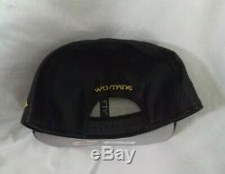 WUTANG New Era BLACK Leather 9FIFTY NEW SNAPBACK CAP HAT RARE
