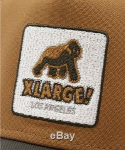 XLARGE NEW ERA WALKING APE PATCHED SNAPBACK CAP Beige New Justin Bieber